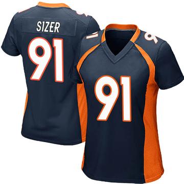 Women's Nike Denver Broncos Deyon Sizer Navy Blue Alternate Jersey - Game