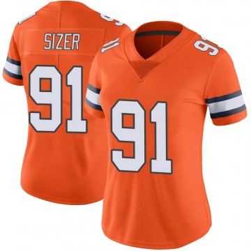 Women's Nike Denver Broncos Deyon Sizer Orange Color Rush Vapor Untouchable Jersey - Limited