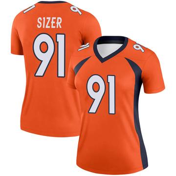 Women's Nike Denver Broncos Deyon Sizer Orange Jersey - Legend
