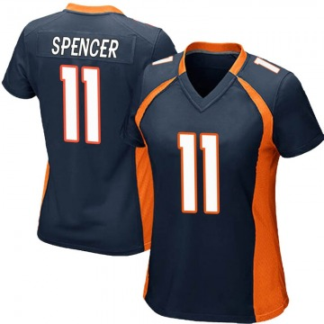 Women's Nike Denver Broncos Diontae Spencer Navy Blue Alternate Jersey - Game