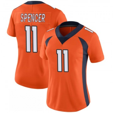 Women's Nike Denver Broncos Diontae Spencer Orange 100th Vapor Jersey - Limited