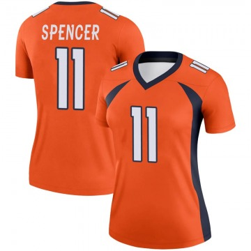 Women's Nike Denver Broncos Diontae Spencer Orange Jersey - Legend