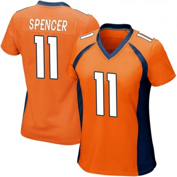 Women's Nike Denver Broncos Diontae Spencer Orange Team Color Jersey - Game