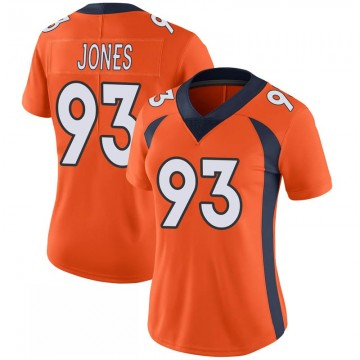 Women's Nike Denver Broncos Dre'Mont Jones Orange 100th Vapor Jersey - Limited