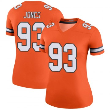 Women's Nike Denver Broncos Dre'Mont Jones Orange Color Rush Jersey - Legend