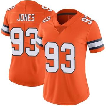 Women's Nike Denver Broncos Dre'Mont Jones Orange Color Rush Vapor Untouchable Jersey - Limited