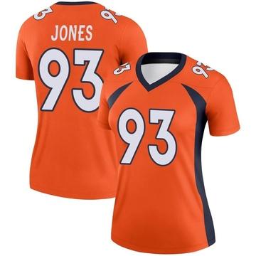 Women's Nike Denver Broncos Dre'Mont Jones Orange Jersey - Legend