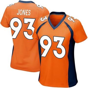 Women's Nike Denver Broncos Dre'Mont Jones Orange Team Color Jersey - Game