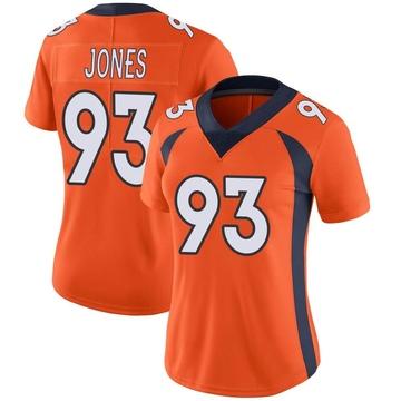Women's Nike Denver Broncos Dre'Mont Jones Orange Team Color Vapor Untouchable Jersey - Limited