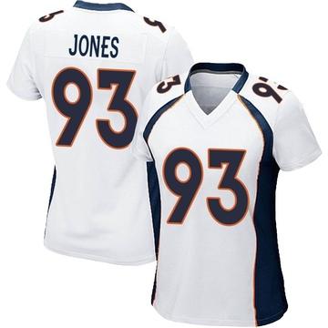 Women's Nike Denver Broncos Dre'Mont Jones White Jersey - Game