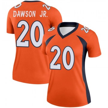 Women's Nike Denver Broncos Duke Dawson Jr. Orange Jersey - Legend