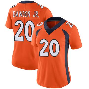 Women's Nike Denver Broncos Duke Dawson Jr. Orange Team Color Vapor Untouchable Jersey - Limited
