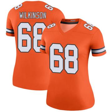 Women's Nike Denver Broncos Elijah Wilkinson Orange Color Rush Jersey - Legend
