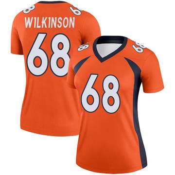 Women's Nike Denver Broncos Elijah Wilkinson Orange Jersey - Legend