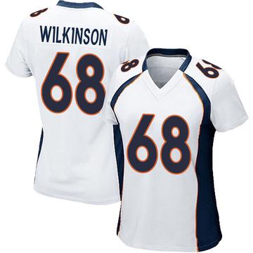 Women's Nike Denver Broncos Elijah Wilkinson White Jersey - Game