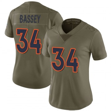 Women's Nike Denver Broncos Essang Bassey Green 2017 Salute to Service Jersey - Limited