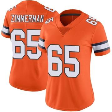 Women's Nike Denver Broncos Gary Zimmerman Orange Color Rush Vapor Untouchable Jersey - Limited