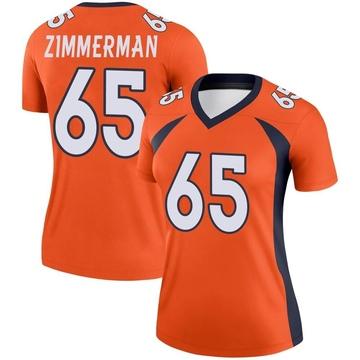 Women's Nike Denver Broncos Gary Zimmerman Orange Jersey - Legend