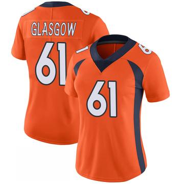 Women's Nike Denver Broncos Graham Glasgow Orange 100th Vapor Jersey - Limited