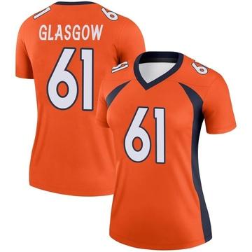 Women's Nike Denver Broncos Graham Glasgow Orange Jersey - Legend