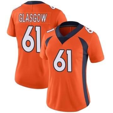 Women's Nike Denver Broncos Graham Glasgow Orange Team Color Vapor Untouchable Jersey - Limited