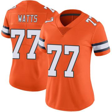 Women's Nike Denver Broncos Hunter Watts Orange Color Rush Vapor Untouchable Jersey - Limited