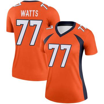 Women's Nike Denver Broncos Hunter Watts Orange Jersey - Legend