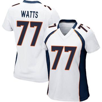 Women's Nike Denver Broncos Hunter Watts White Jersey - Game