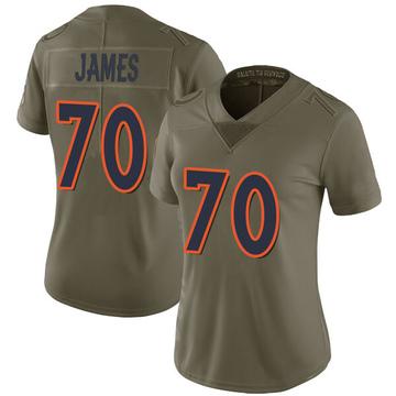 Women's Nike Denver Broncos Ja'Wuan James Green 2017 Salute to Service Jersey - Limited