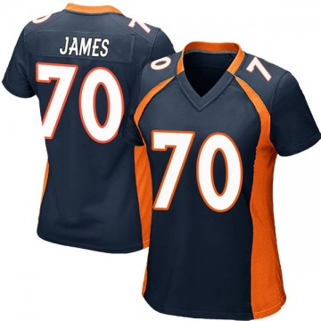 Women's Nike Denver Broncos Ja'Wuan James Navy Blue Alternate Jersey - Game
