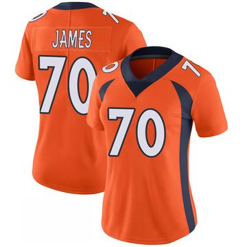 Women's Nike Denver Broncos Ja'Wuan James Orange 100th Vapor Jersey - Limited