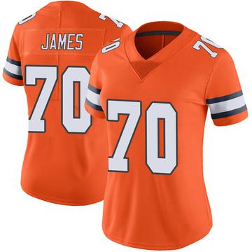 Women's Nike Denver Broncos Ja'Wuan James Orange Color Rush Vapor Untouchable Jersey - Limited