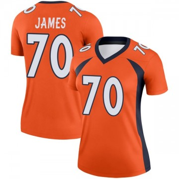 Women's Nike Denver Broncos Ja'Wuan James Orange Jersey - Legend