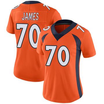 Women's Nike Denver Broncos Ja'Wuan James Orange Team Color Vapor Untouchable Jersey - Limited