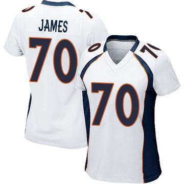 Women's Nike Denver Broncos Ja'Wuan James White Jersey - Game