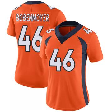 Women's Nike Denver Broncos Jacob Bobenmoyer Orange 100th Vapor Jersey - Limited