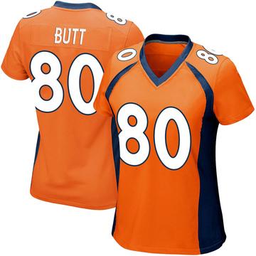 Women's Nike Denver Broncos Jake Butt Orange Team Color Jersey - Game