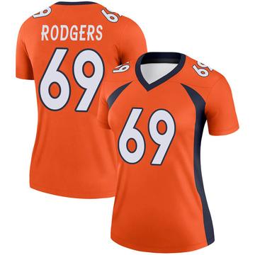 Women's Nike Denver Broncos Jake Rodgers Orange Jersey - Legend