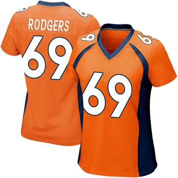 Women's Nike Denver Broncos Jake Rodgers Orange Team Color Jersey - Game
