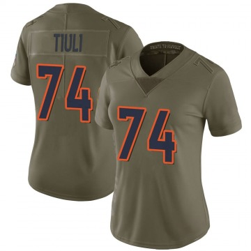 Women's Nike Denver Broncos Jay-Tee Tiuli Green 2017 Salute to Service Jersey - Limited