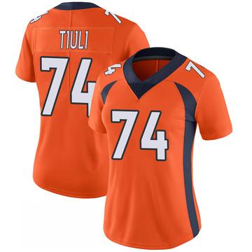 Women's Nike Denver Broncos Jay-Tee Tiuli Orange 100th Vapor Jersey - Limited