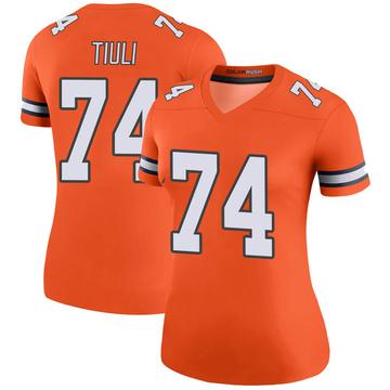 Women's Nike Denver Broncos Jay-Tee Tiuli Orange Color Rush Jersey - Legend
