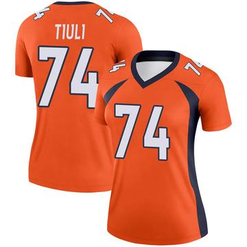 Women's Nike Denver Broncos Jay-Tee Tiuli Orange Jersey - Legend