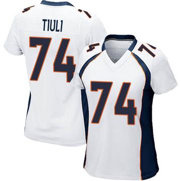 Women's Nike Denver Broncos Jay-Tee Tiuli White Jersey - Game