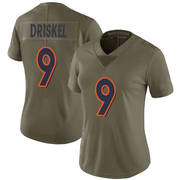 Women's Nike Denver Broncos Jeff Driskel Green 2017 Salute to Service Jersey - Limited