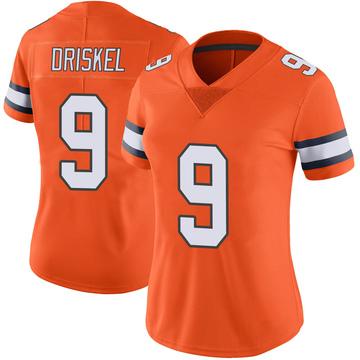 Women's Nike Denver Broncos Jeff Driskel Orange Color Rush Vapor Untouchable Jersey - Limited