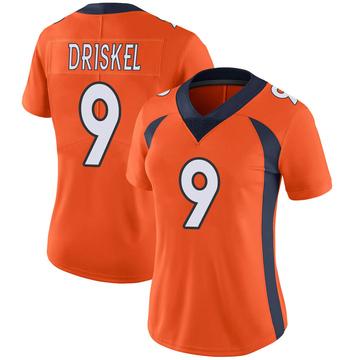 Women's Nike Denver Broncos Jeff Driskel Orange Team Color Vapor Untouchable Jersey - Limited
