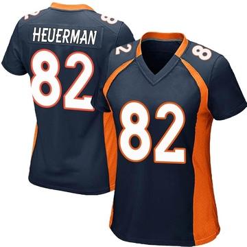 Women's Nike Denver Broncos Jeff Heuerman Navy Blue Alternate Jersey - Game