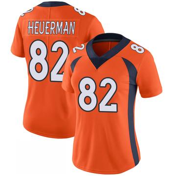 Women's Nike Denver Broncos Jeff Heuerman Orange 100th Vapor Jersey - Limited