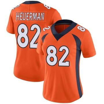 Women's Nike Denver Broncos Jeff Heuerman Orange Team Color Vapor Untouchable Jersey - Limited